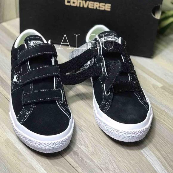 Converse One Star Suede 3v Black White